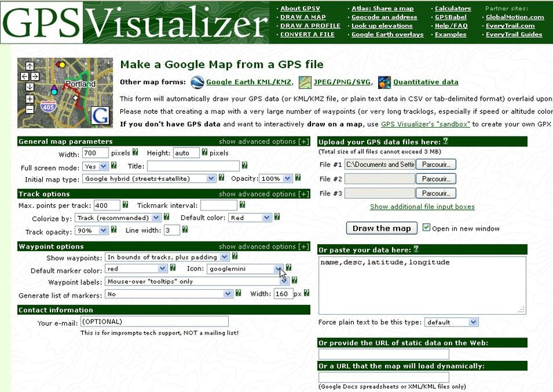 gpsvisualizer draw a map